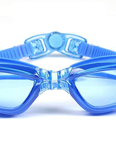 msbeen Erwachsene HD Flache professionelle wasserdichte Anti-Fog-Unisex-Brille blau