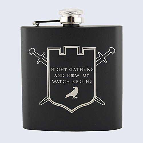 Petaca La Guardia de la noche, cuervos