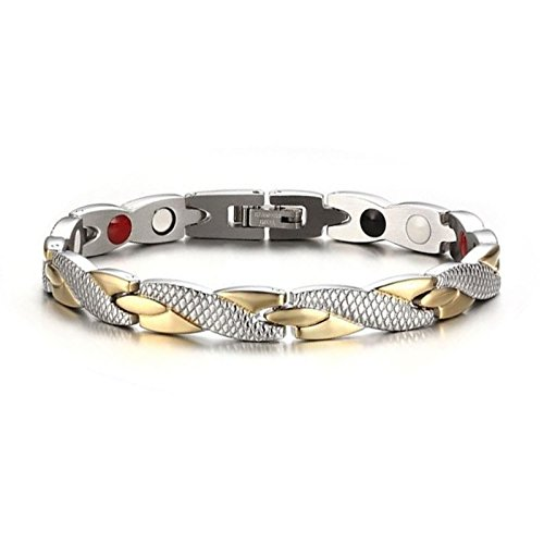 Toogoo salute bracciale magnetico per donne terapia magneti braccialetti braccialetti di potenza per le donne unisex