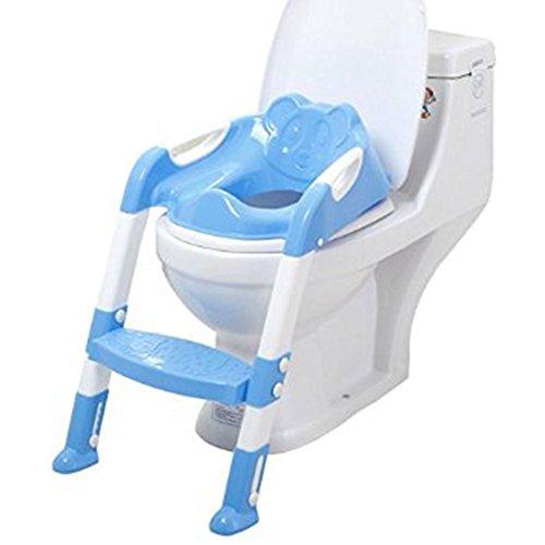 Xuxuou Reducteur de Toilette avec échelle Marches,Siège de Toilette Enfant Pliable et Réglable,Anti-dérapant