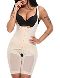 MISS MOLY Body Reductor Mujer Modeladora Faja Reductora Adelgazantes Bodysuit de Cintura Shapewear con Pierna Largo Negro/Beige/Violeta