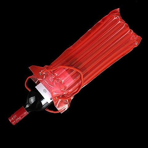Bette Air Spalte aufblasbar Staubbeutel Reisen 750ml Wein Flaschen Tasche, Rot, 10-Pack