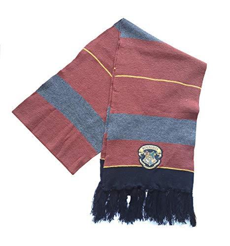 Harry Potter Echarpe mixte - Poudlard Hogwarts - Écharpe Homme Écharpe Femme - Marron