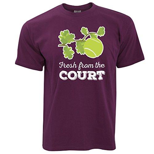 Frisch vom Hof Tennis Herren T-Shirt Maroon