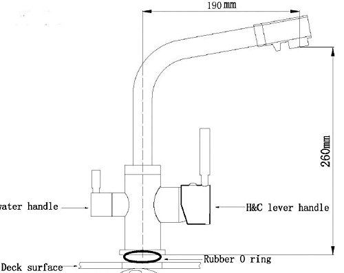 Homelody – Küchenarmatur mit Wasserfilter-Funktion, 360° drehbar, Chrom - 7