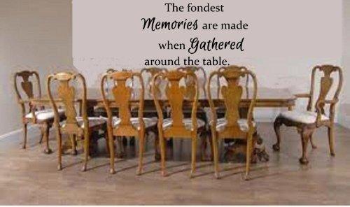 Wandaufkleber, Motiv: The Fondest Memories are Made When Gathered Around The Table (englischsprachig), 56 x 33 cm