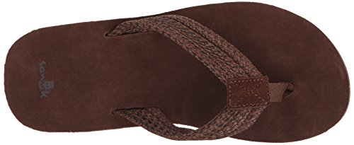 Sanuk Sandal Fraid Webbing dark brown Braun (Dark Brown)