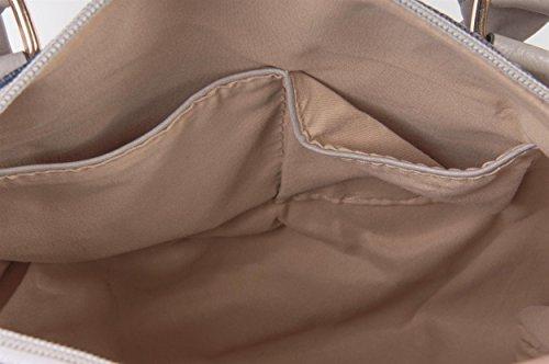 3 im Stars Trageriemen Hellbraun Damen Tasche Handtasche USA Vintage Design Bowling Henkeltasche styleBREAKER abnehmbarem 02012014 Modell mit Stripes IwqxtOSC