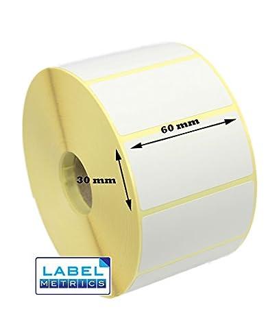 Label Metrics 60mm x 30mm Direct Thermal Labels, 2,000 labels for Zebra printers. Free P&P