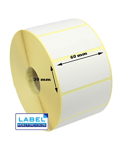 Label Metrics 60mm x 30mm Direct Thermal Labels, 2,000