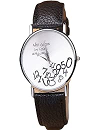 iSweven Super Fancy casual ladies quartz watche spring collection Analogue Black Unisex Wrist Watch W1037d