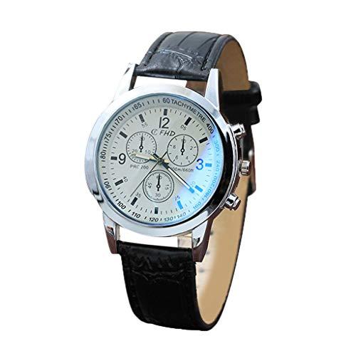 Mitlfuny Unisex Männer Frauen Mode Armbanduhren 2019,Blu Ray Glass Watch Neutral Quarz simuliert die Armbanduhr