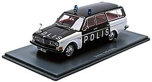 Neo - 49523 - Véhicule Miniature - Modèle À L'échelle - Volvo 145 - Swedish Polis - Echelle 1/43