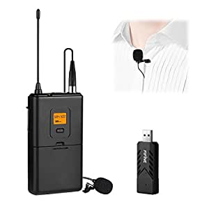 fifine uhf wireless lavalier microphone system with bodypack transmitter usb receiver lapel. Black Bedroom Furniture Sets. Home Design Ideas