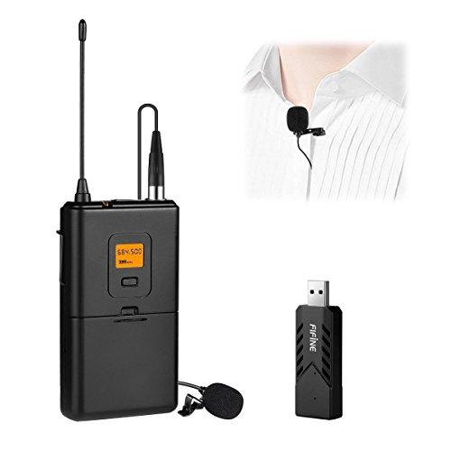 Fifine Micrófono Inalámbrico para PC y Mac, micrófono de condensado