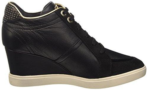 Geox D Eleni A, Baskets Basses Femme Noir (C9999)