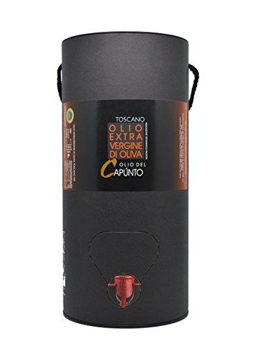 Olio extravergine di oliva toscano Bag-In-Tube 3 L - Olio del Capùnto IGP Toscano - Olio EVO 100% italiano - Fruttato medio