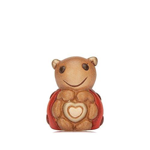 Thun coccinella con cuore ceramica 4 cm h