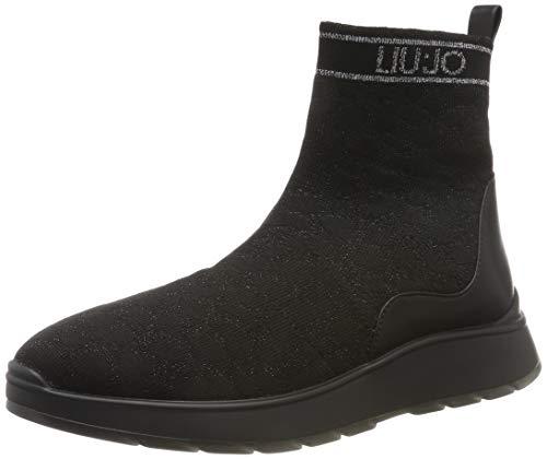 Liu Jo Shoes Asia 08 Mid Sock Black, Scarpe da Ginnastica Basse Donna, Nero 22222, 36 EU