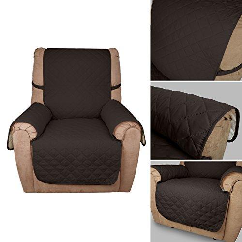 Wohl-H kaffeebraun einzeln Sitzer 1 Sitzer 177x56 cm Sesselschoner Sofaschoner Sesselüberwurf Sofa Decke aus 60g PP Baumwolle besonders für Haustier, Baby Familie