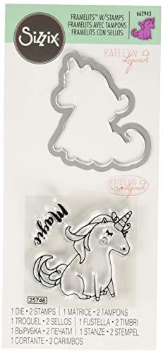 Framelits Stanzschablonen 1 Stk mit Stempeln - Einhorn #2 von Katelyn Lizardi