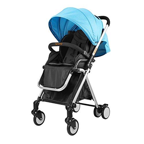 Besrey Passeggino Carrozzina Bambino 6-36 Mesi Pieghevole Capacità di Carico di Max 20 kg Circa Certificazione ECE sicurezza di UE Color Celeste Blue