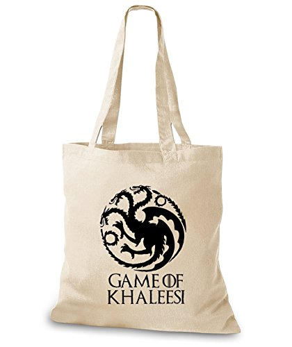 StyloBags Jutebeutel/Tasche Game of Khaleesi - mother of Dragons, Farbe:natur