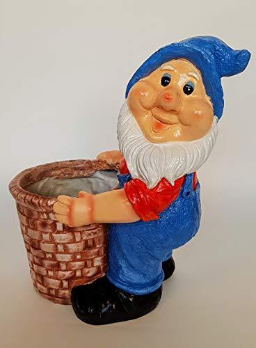 Wonderland 14 Inches Gnome/Dwarf Planter/Pot with Blue Cap (Garden Decor, Gifting, Balcony, Christmas Decor, Garden planters)
