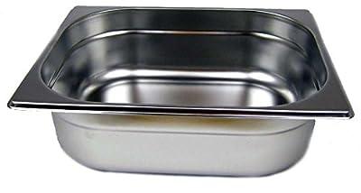 GN 1/2 Gastronormbehälter GN-Behälter Edelstahl 6,5 Liter Tiefe 100mm von airbrush-city