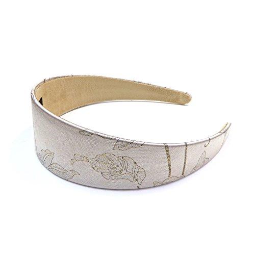 rougecaramel - Accessoires cheveux - Serre tête/headband large imprimé - beige