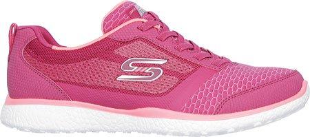 Skechers, Sneaker donna nero Black Red/PINK