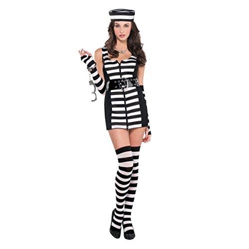 Christy 's Erwachsenen Guilty als geladen Gefangene Kostüm (Größe 8-10)