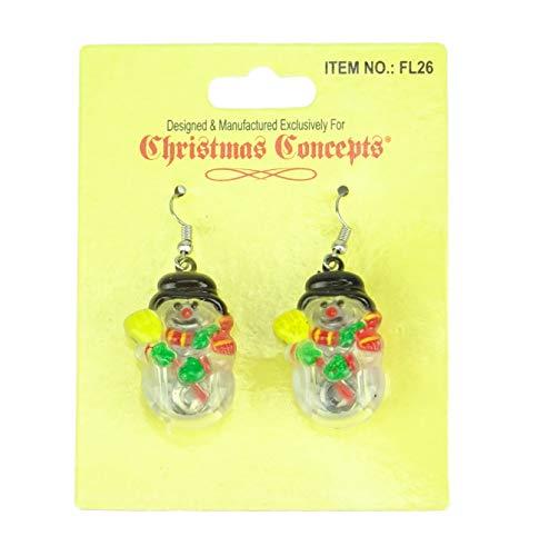 Christmas Concepts® Leuchten Schneemann Ohrringe - Flashing Jewellery - Neuheit Christmas Dress Up