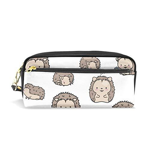 MUOOUM Federmäppchen mit niedlichem Tier-Igel-Motiv, für Kinder, Stiftebox, Make-up, Kosmetik, Reisen, Schultasche (Einfache Halloween Make-up-tricks)