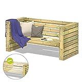 FATMOOSE Gartenbank Sitzbank ChillyWilly OneEighty Garten Holzbank Holz Lounge-Set 176x80x80cm