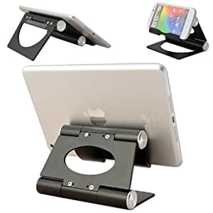 No1accessory black multi-angle Luxury Polished Stainless Steel Stand desktop dock docking station for Samsung galaxy note 10.1 & GALAXY Note 3 &Galaxy Note 10.1 2014 Edition & Apple ipad 4 with retina display &Surface Pro 2 with Windows 8