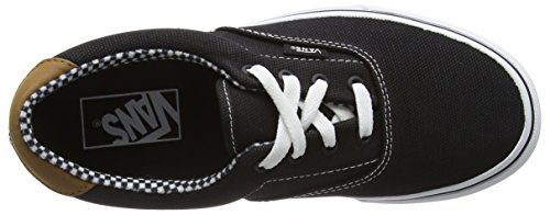 Vans U Era , Baskets mode mixte adulte Noir (Waxed Canvas/Black)
