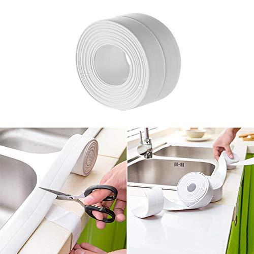 Vvciic Self Adhesive Küche Keramik-Aufkleber wasserdichte Anti-Feuchtigkeit PVC-Aufkleber-Badezimmer-Wand-Ecken-Linie Sink-Aufkleber 3.8 * 320cm -