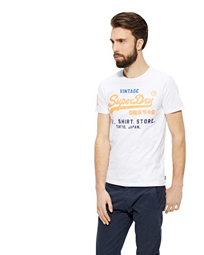 Superdry Herren T-Shirt Shirt Shop Tri Tee Optic
