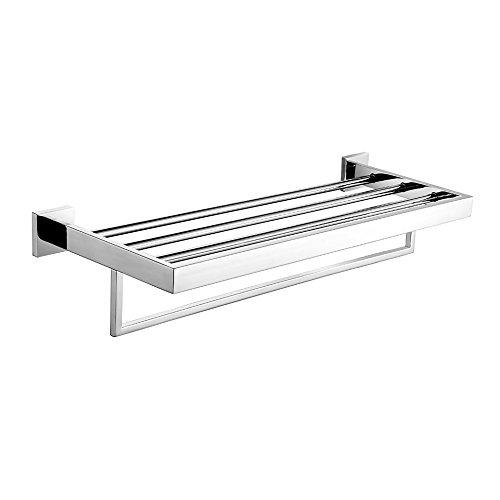 Leidener Wandhalterung Badezimmer modernes Chrom-Finish Edelstahl Material Badezimmer Regale
