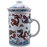 China 3 Piezas Taza con infusor Nueve Dragones] CZ