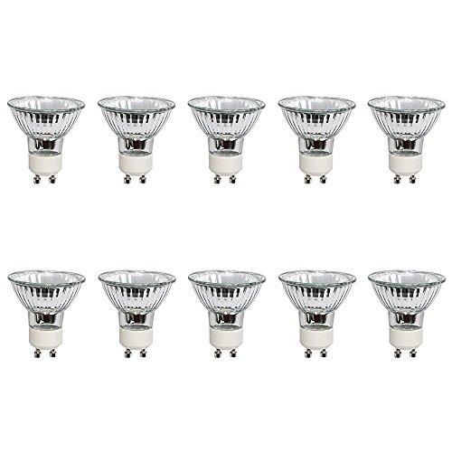 10er Set BRILONER Halogen Strahler mit GU10 Sockel (warm-weiß, 230 Volt 50 Watt, Lampe, Leuchtmittel, Haushaltspack, 230V, 50W) [Energieklasse C]