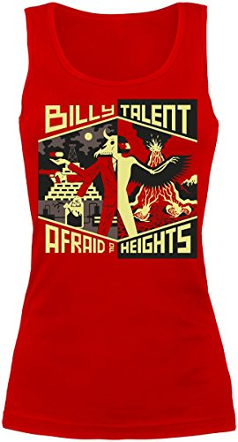 Billy Talent Afraid Of Heights Top donna rosso XL