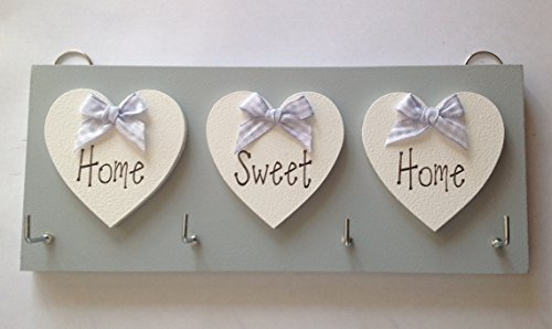Key Holder Home Sweet Home Grey