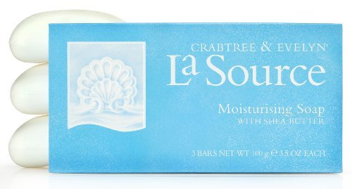 Crabtree & Evelyn La Source Triple Milled Soap Set of 3 3.5oz each (Baby/Babe/Infant - Little ones)