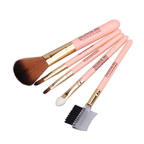 UEB Pinceaux 5 De Maquillage Professionnels Œil Visage Lot Cosmétique Poudre Fard À Paupières Sourcils Contour Fond Teint
