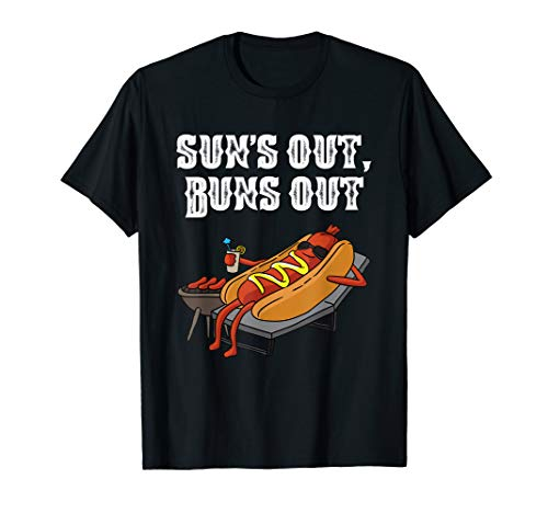 Wiener Dog T-shirt (Suns Out Buns Out Hot Dog Shirt BBQ Grill Wiener Würstchen T-Shirt)