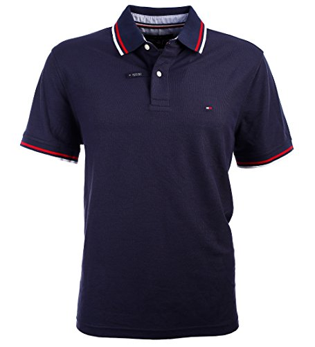 Tommy Hilfiger Wicking Poloshirt Polo Shirt Performance Pique dunkelblau Größe XXL (Wicking Polo-shirt Männer)