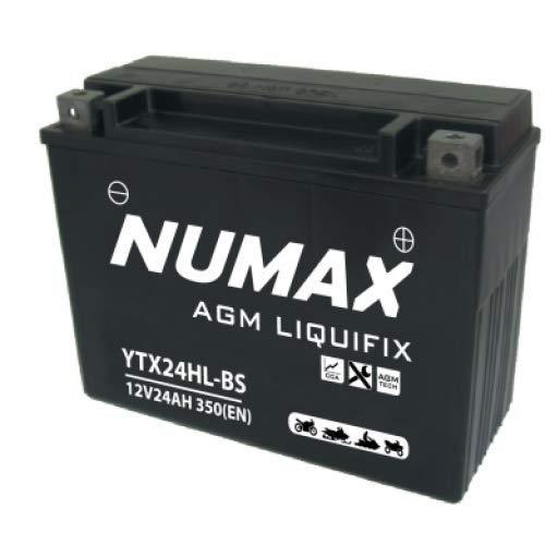 Numax - Batterie moto Numax Premium AGM avec pack acide YTX24HL-BS 12V 24Ah 320A