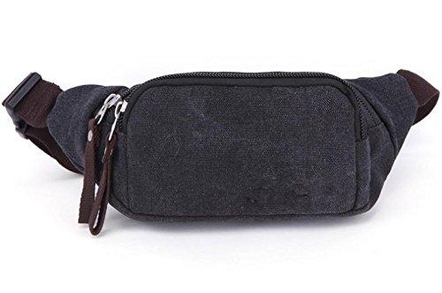 &ZHOU Segeltuchtasche, Männer und Frauen canvas Tasche, lässige Handtasche, tragbaren Paket Telefon Paket Geldbörse Handtaschen, persönliche Aufnahme-Paket Black